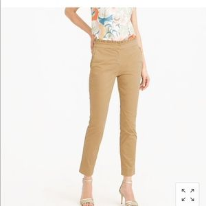 J Crew Cropped Ruffle Chino Pants